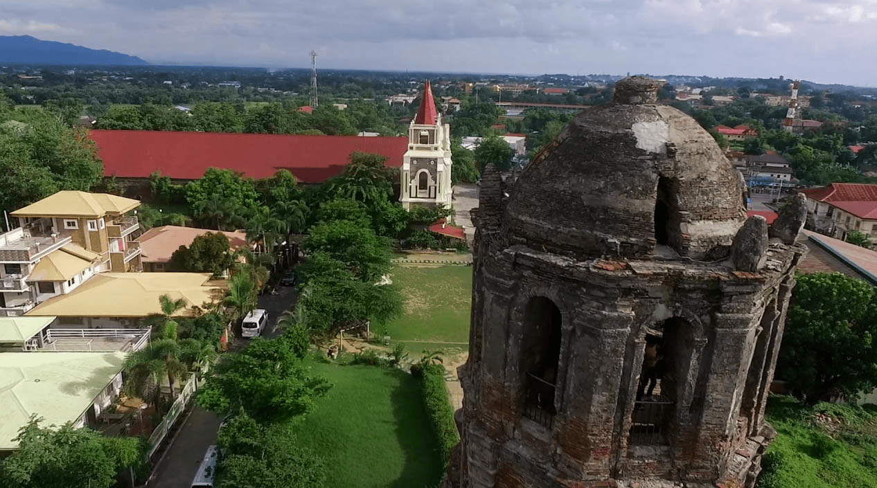 bantay watchtower and church in vigan city ilocos sur philippines