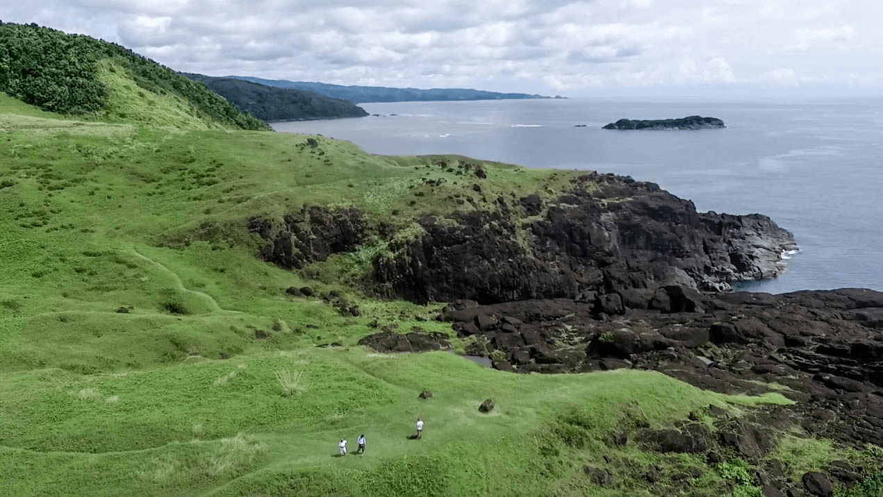 landscape of point binurong natural landmark and viewpoint on the catanduanes island in the philippines