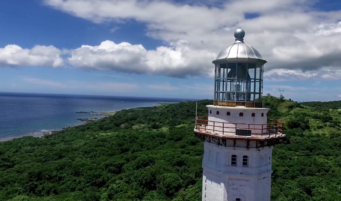 Cape bojeador lighthouse in burgos ilocos norte philippines