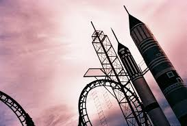 space shuttle rollercoaster attraction in the enchanted kingdom themepark in laguna philippines