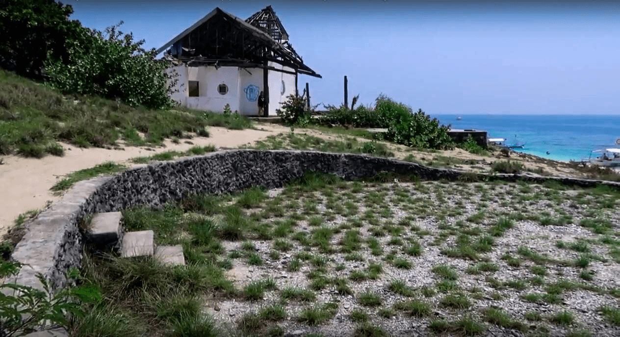 abandoned pool and beach house on fortune island nasugbu batangas philippines