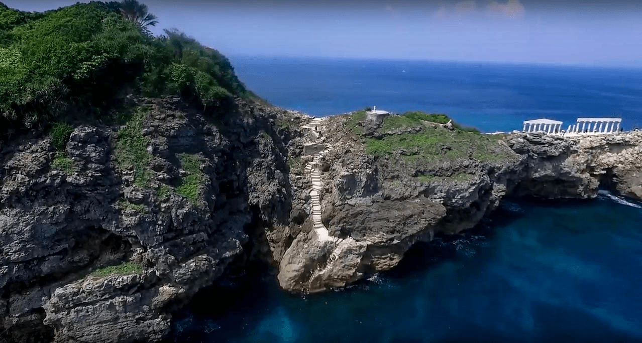 cliff jump site and acropolis structure on fortune island nasugbu batangas philippines