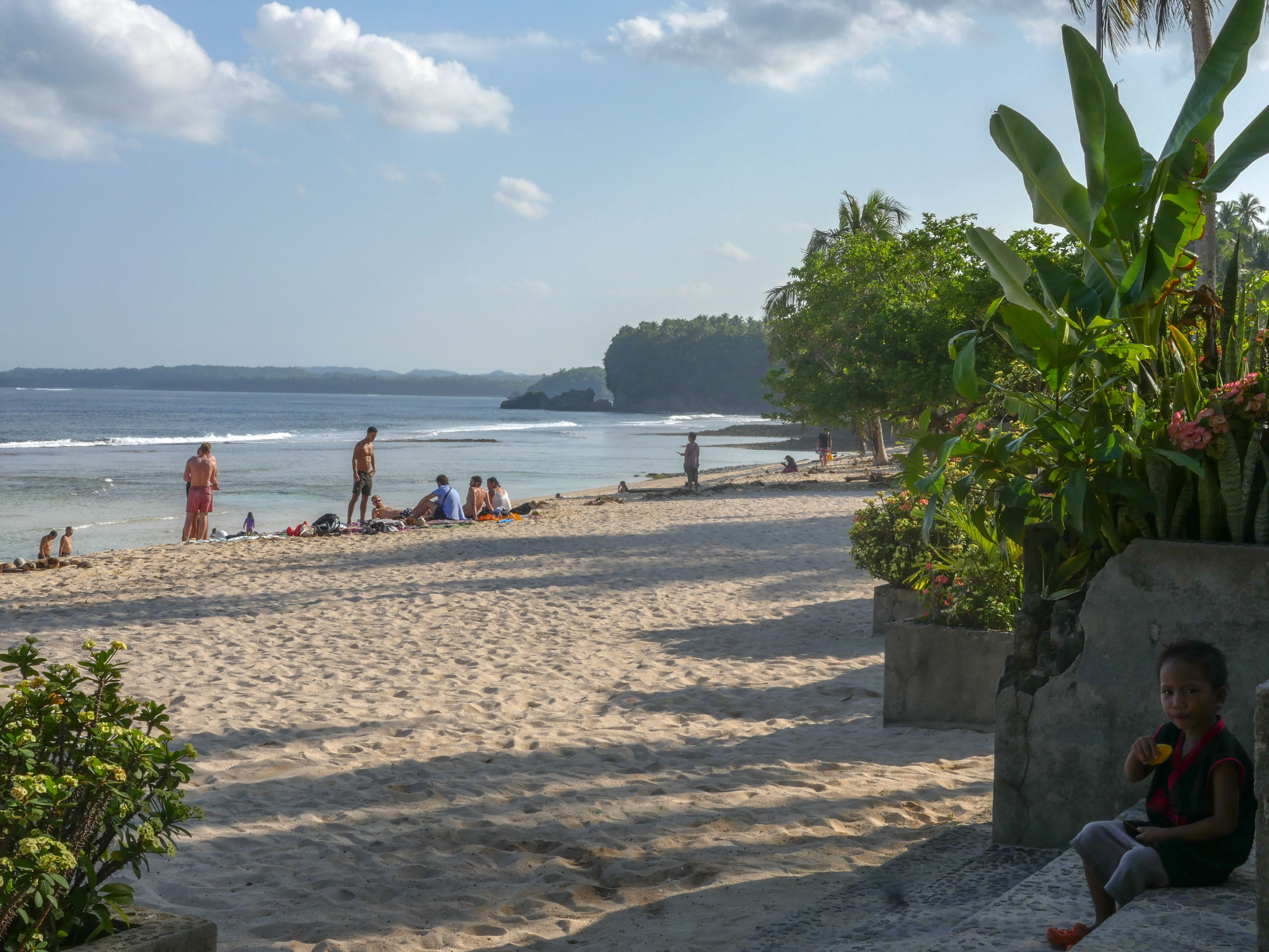 magpupungko beach in siargao island philippines