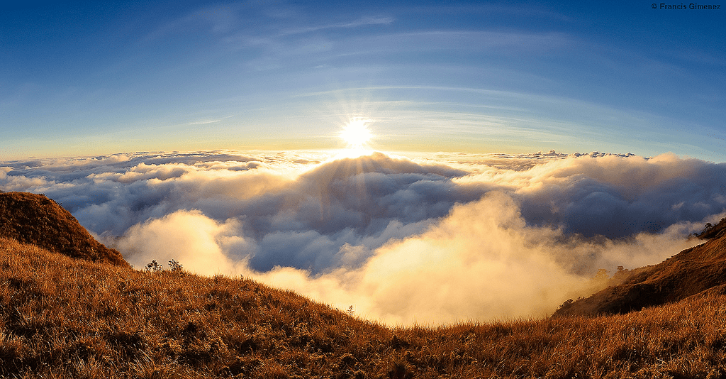 mount pulag baguio city philippines sea of clouds