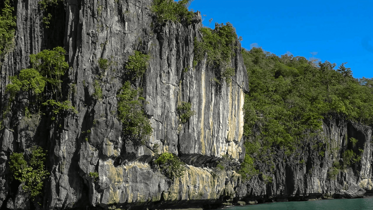 rock formation at puerto princesa underground river national park and beach in palawan philippines