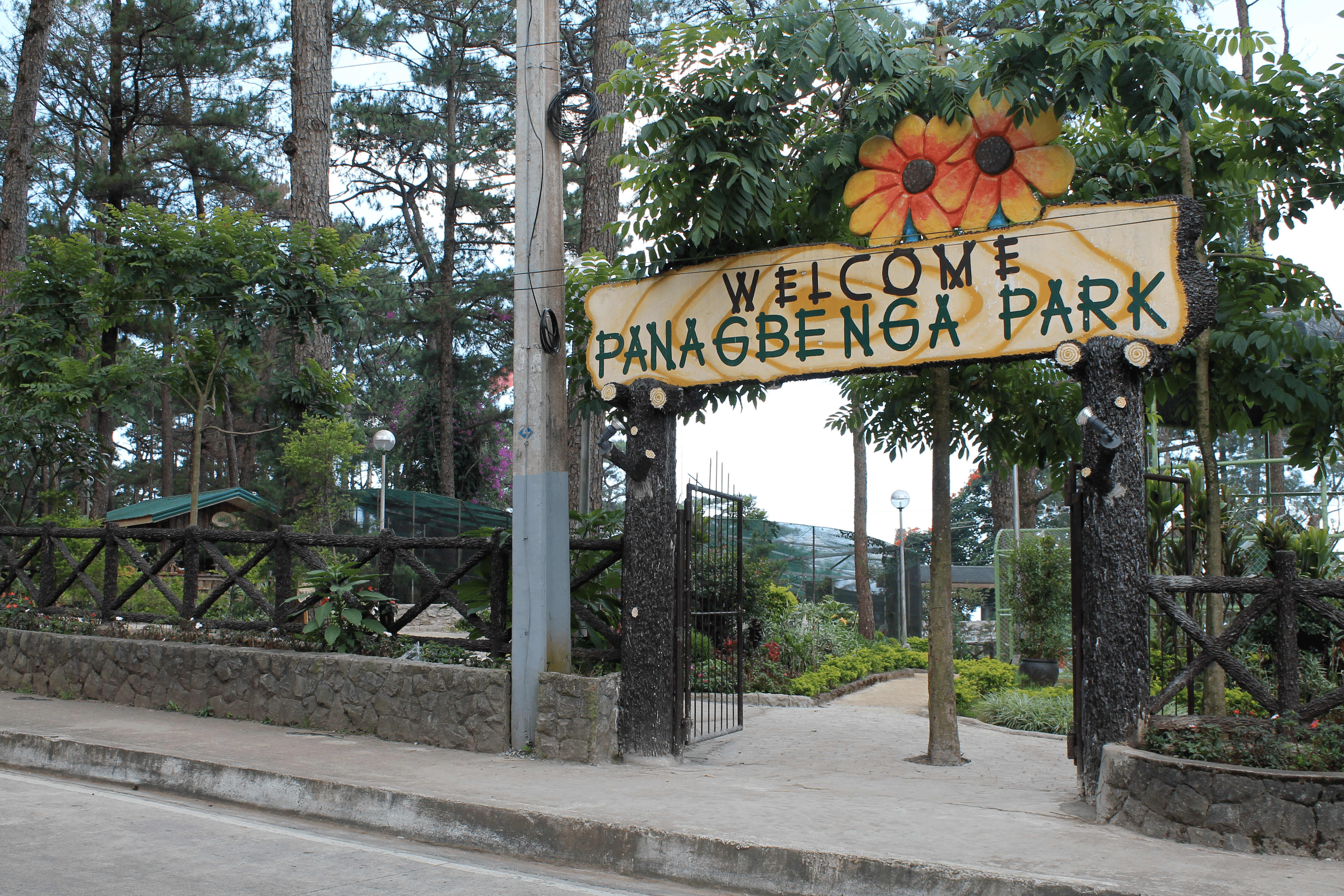 the entrance of panagbenga park in baguio city philippines