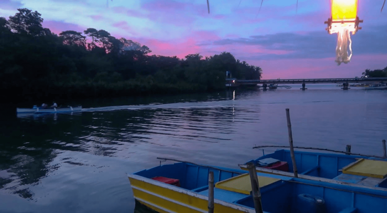 beautiful sunset at sungayan grill floating restaurant in bolinao pangasinan philippines