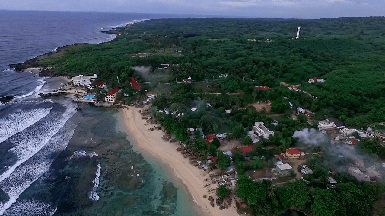 patar beach area in bolinao pangasinan philippines, including cape bolinao lighthouse and treasures of bolinao resort