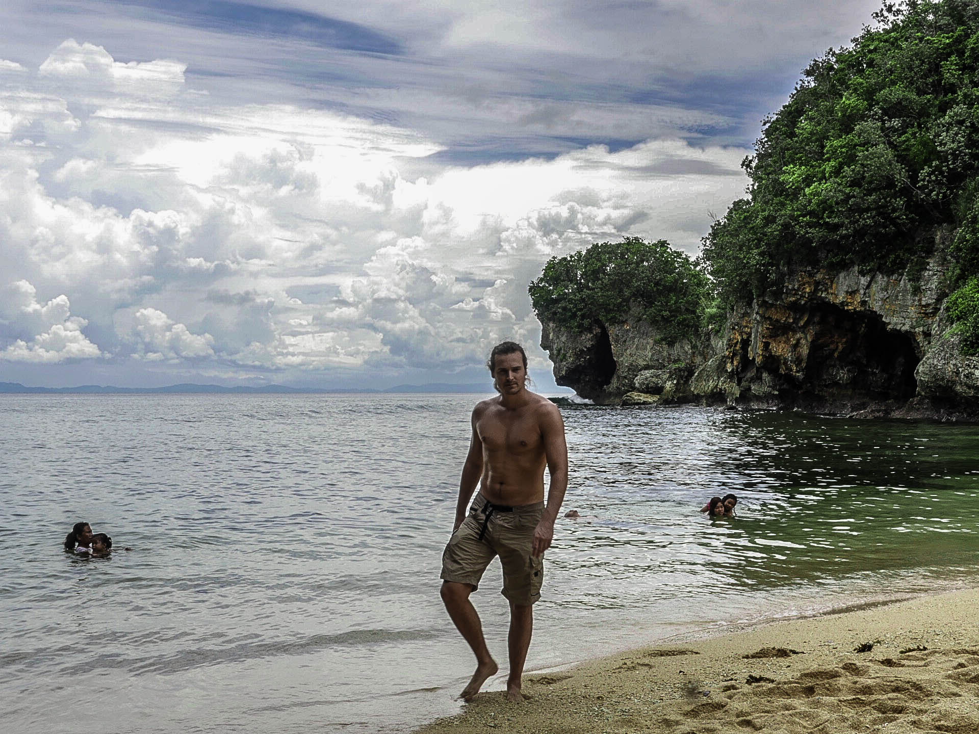 lenny through paradise walking on talisoy beach in catanduanes philippines