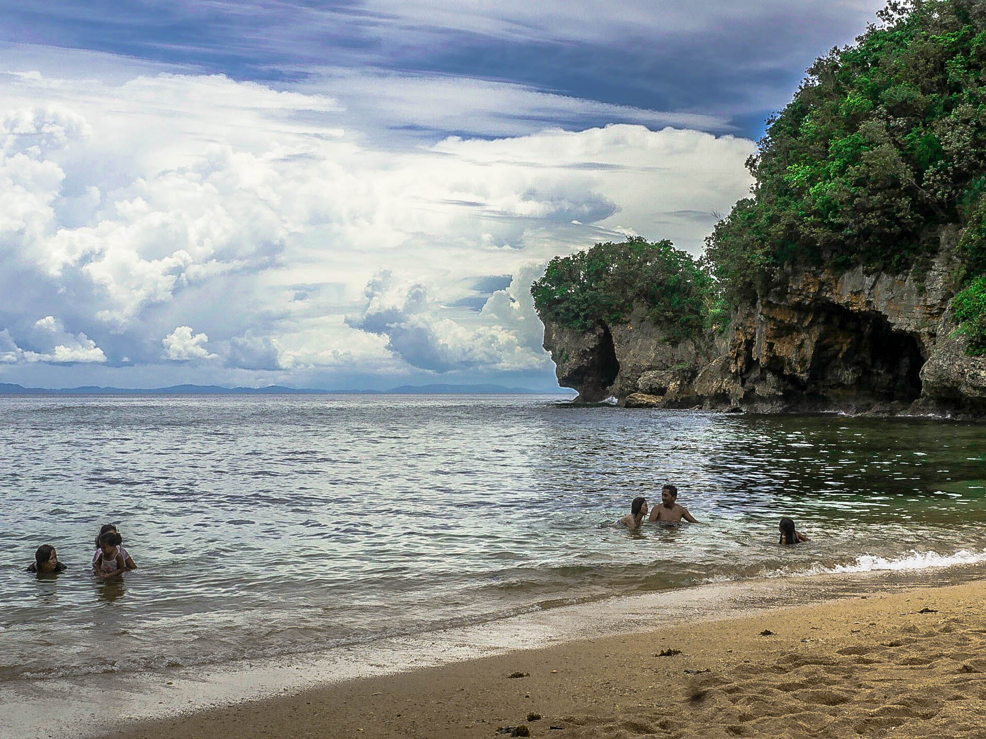 jesus face rock structure formation at talisoy beach in virac catanduanes philippines