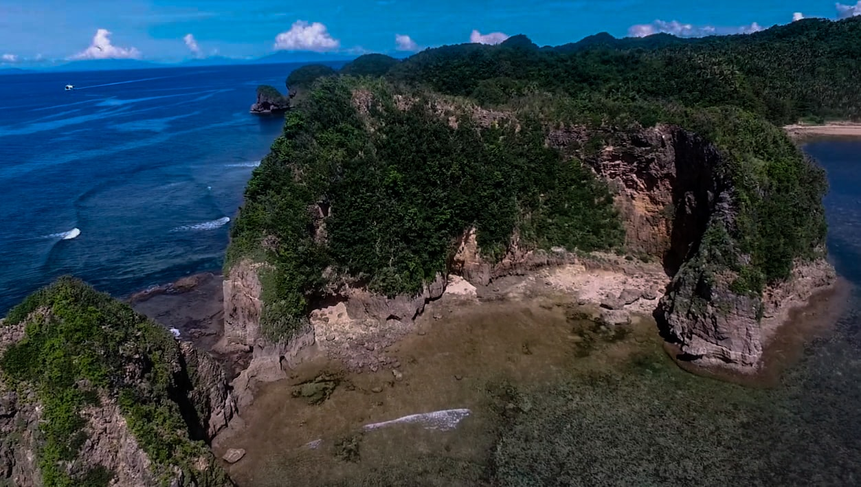 rock formations at twin rock beach in catanduanes philippines