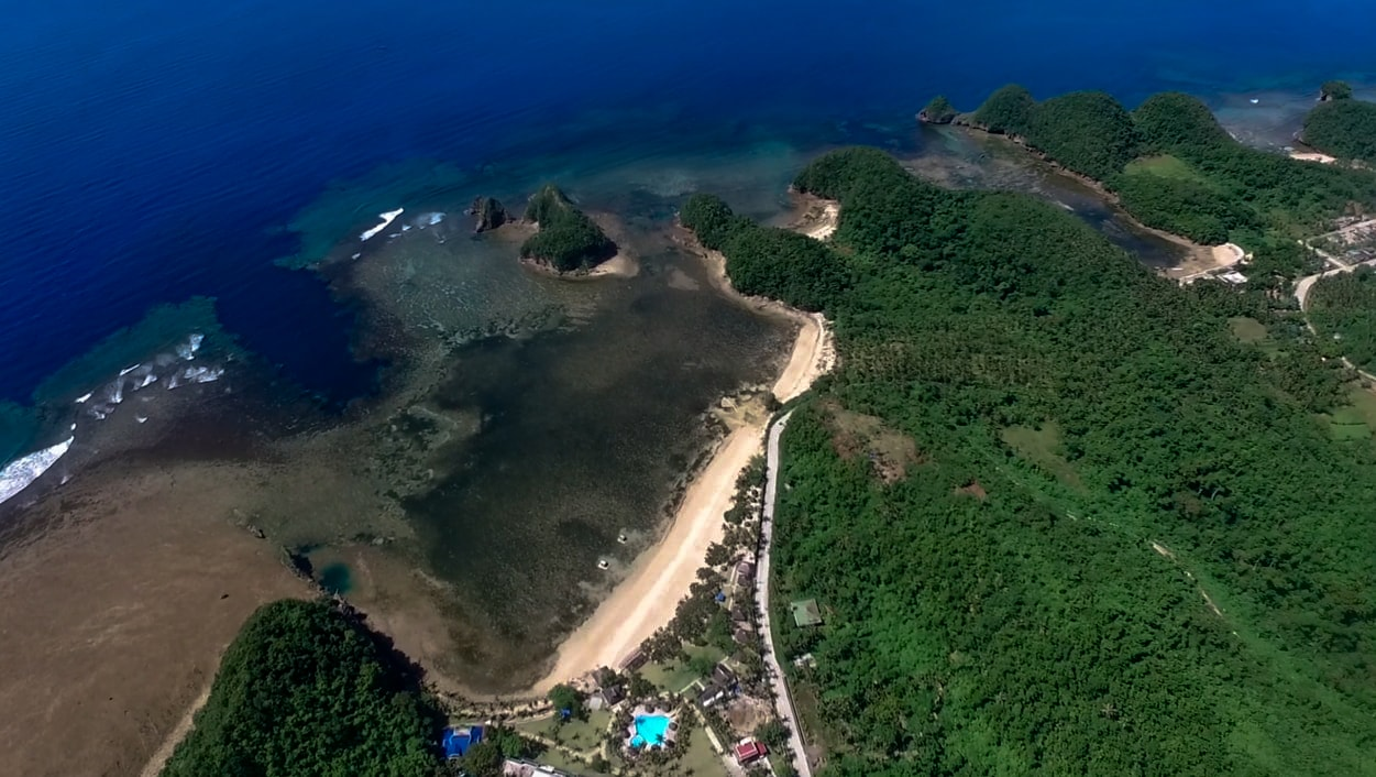 twin rock beach resort in catanduanes philippines aerial view