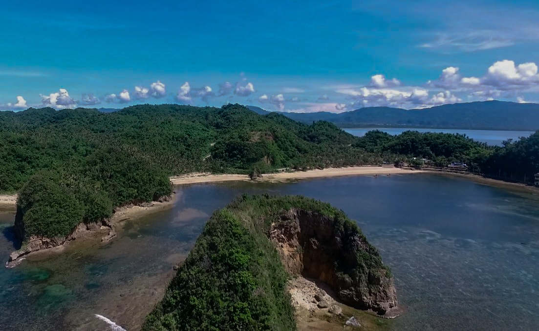 Twin Rock Beach Resort in Catanduanes Philippines drone image