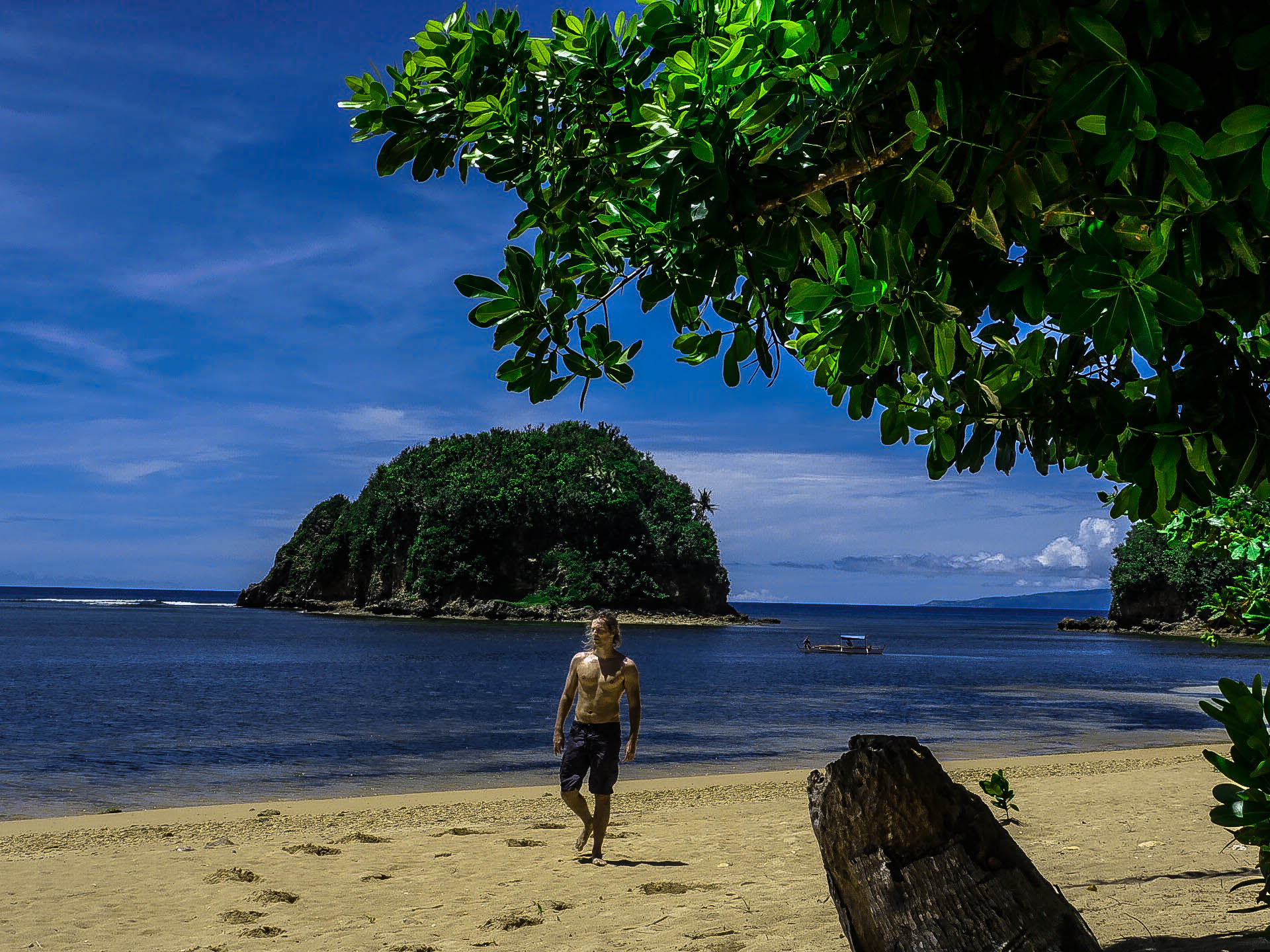 lenny through paradise at twin rock beach in catanduanes philippines