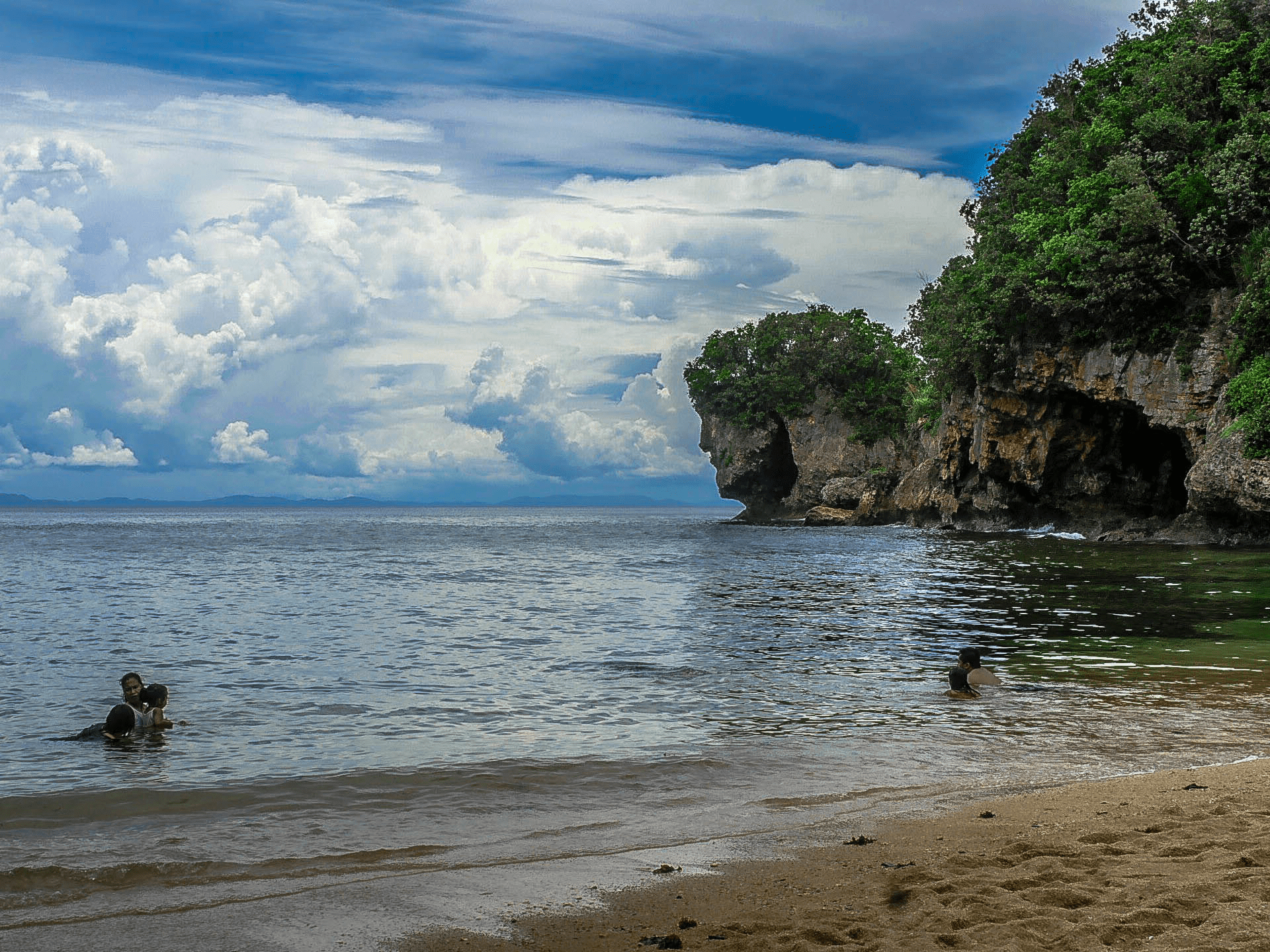 jesus rock formation at talisoy beach in catanduanes island philippines