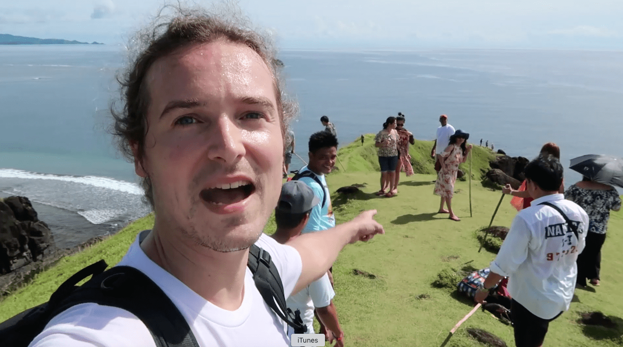 lennythroughparadise pointing at people tourists in point binurong catanduanes philippines