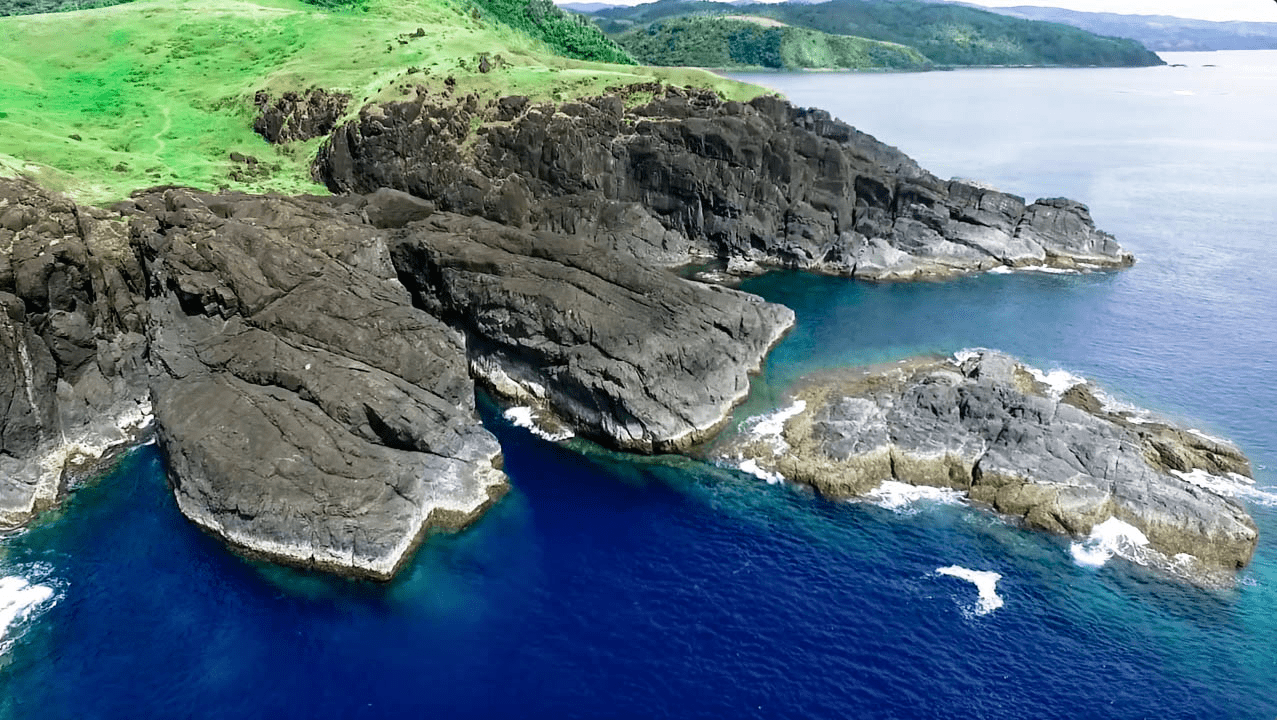 The beautiful natural landmark an viewpoint in Catanduanes Island Philippines: Point Binurong in Baras.