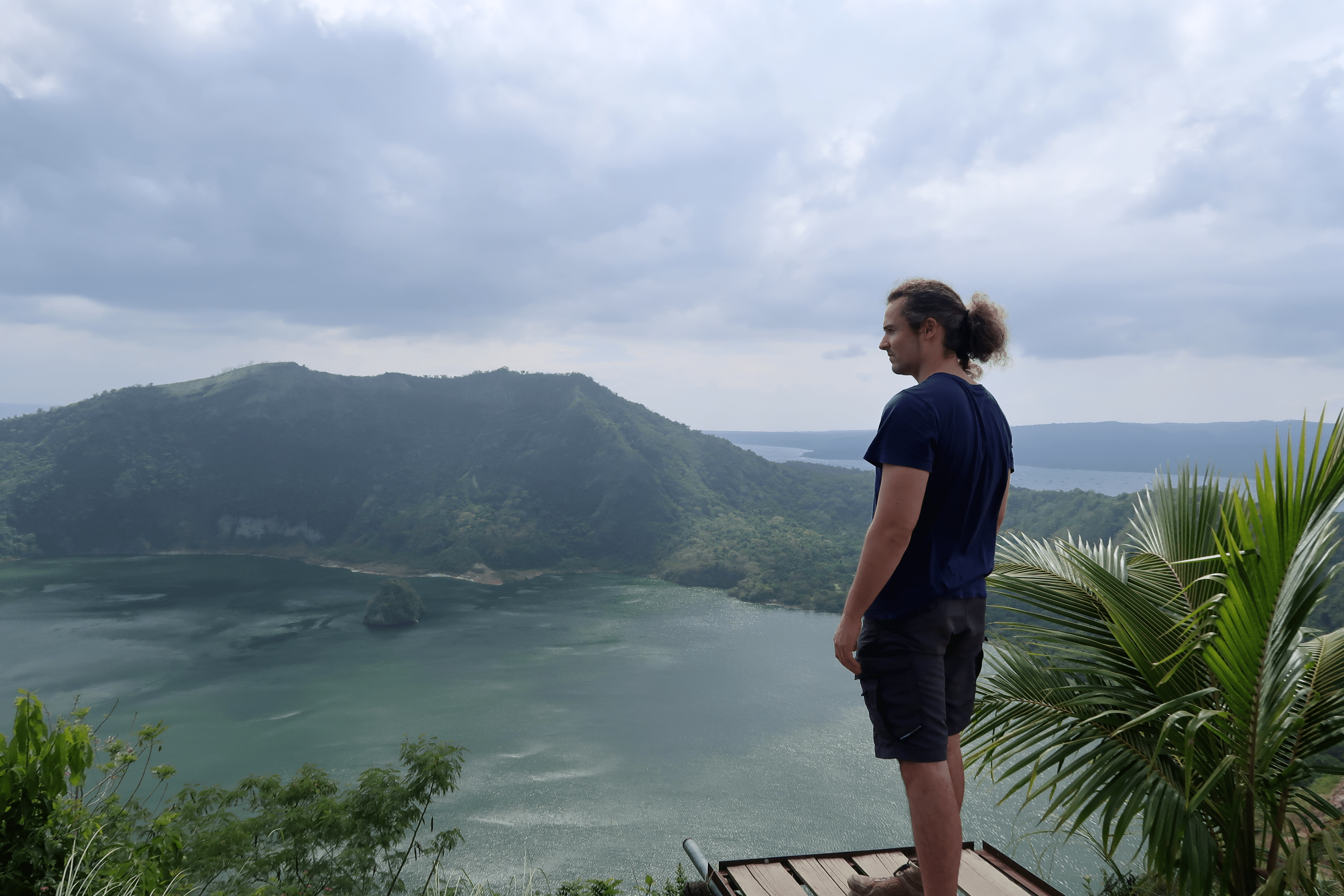Lenny through paradise overlooking taal volcano, batangas, philippines