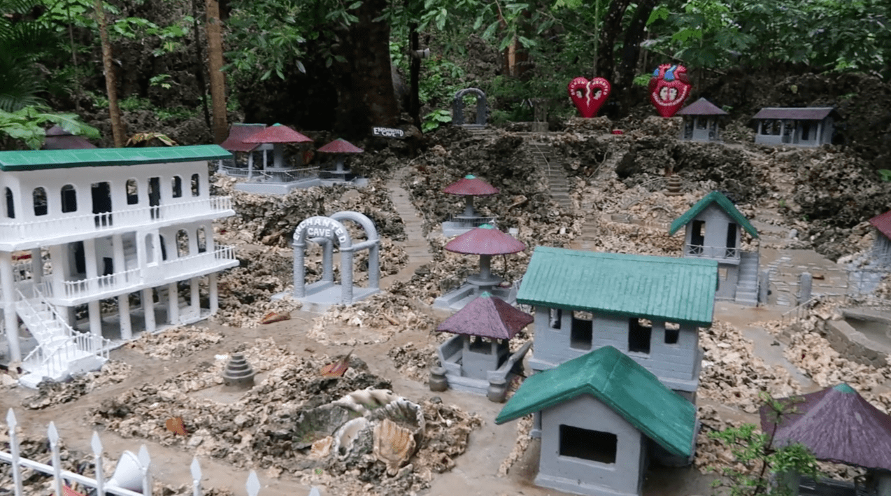 scale model miniature of enchanted cave park in bolinao pangasinan philippines