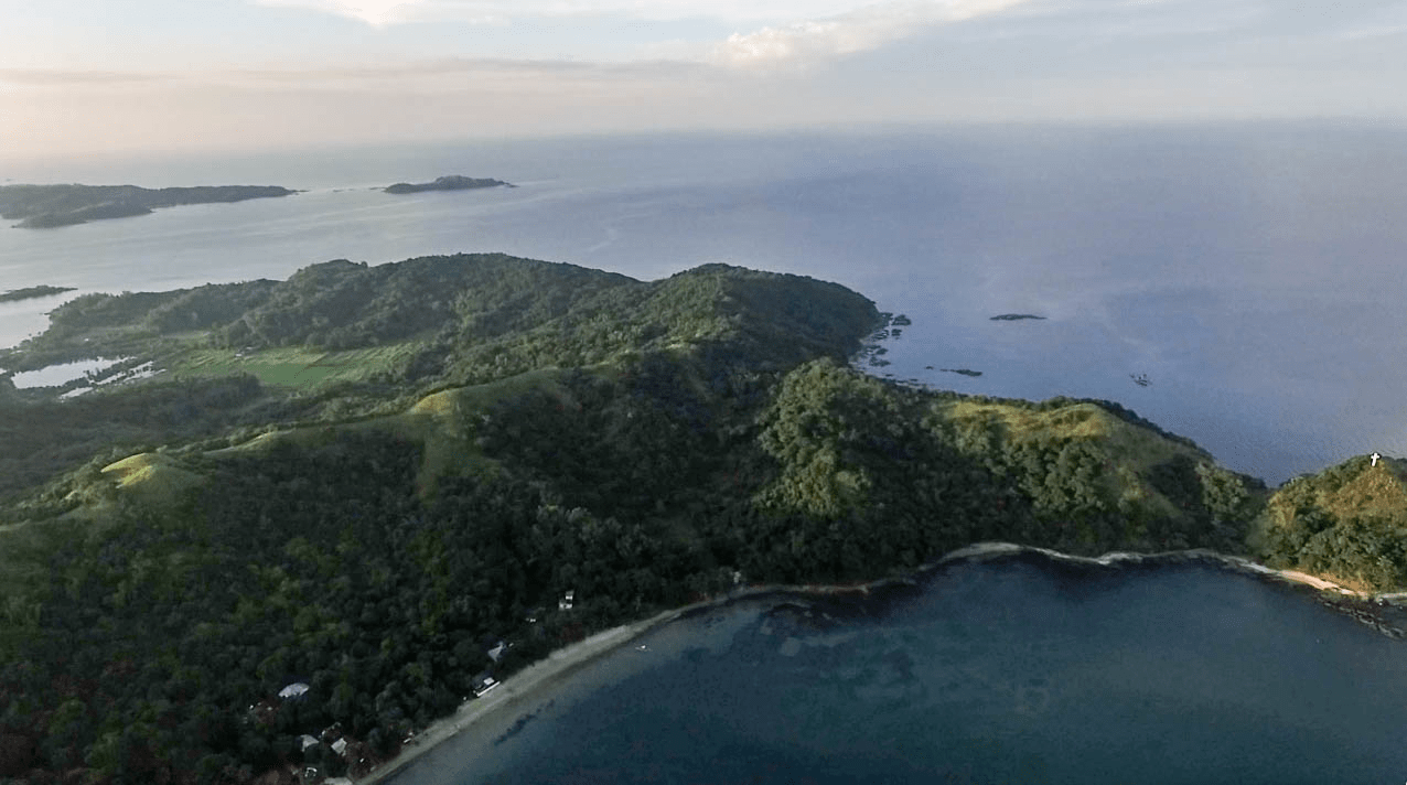 drone aerial photography photos of cabalitian island in pangasinan province