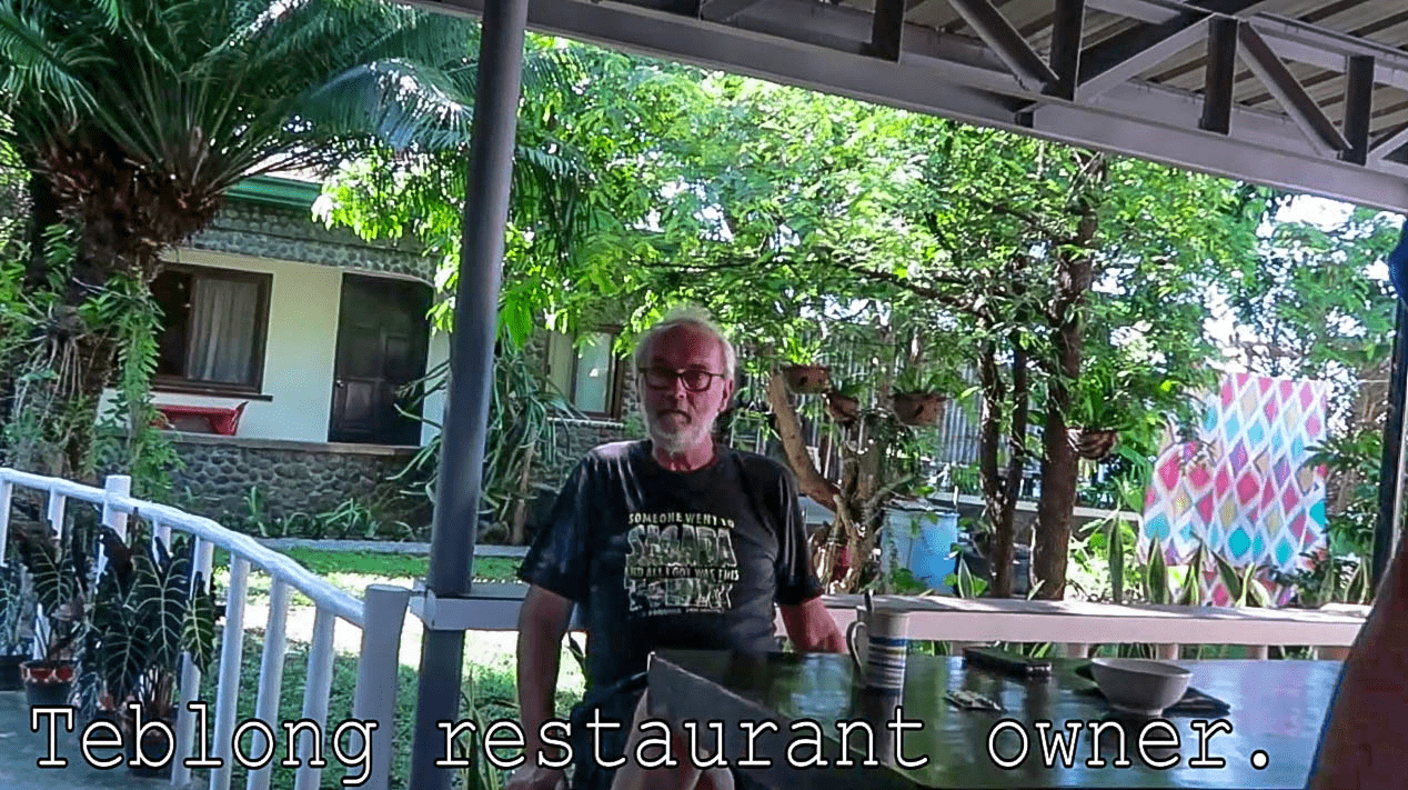 german restaurant owner michael teblong in sual pangasinan province philippines