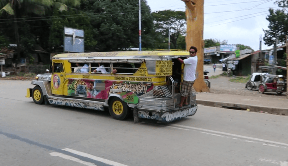 a jeepney in the Philippines