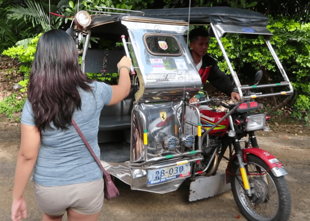 a tricycle in the Philippines