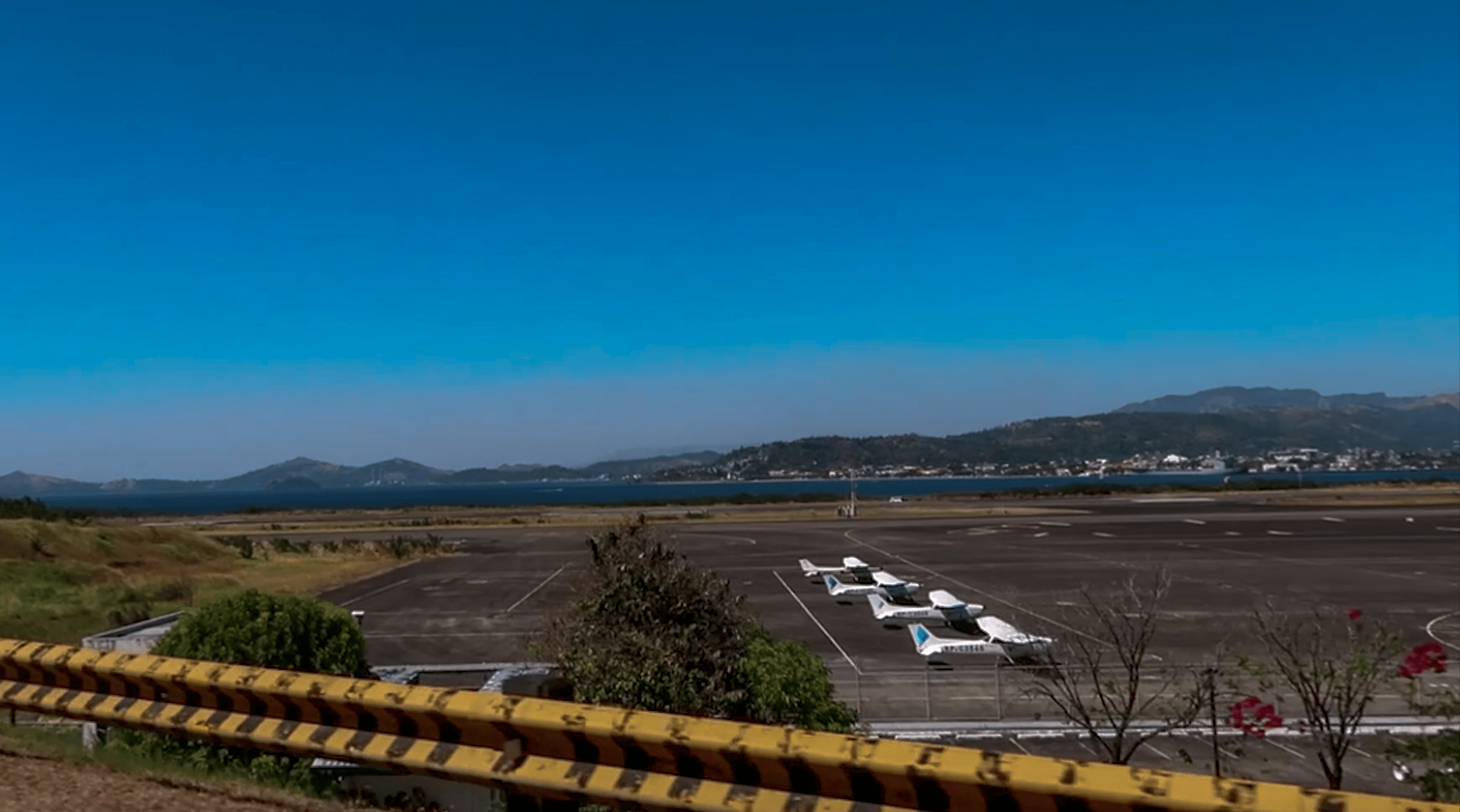 sport planes lined up on air strip in subic bay freeport in zambales philippines