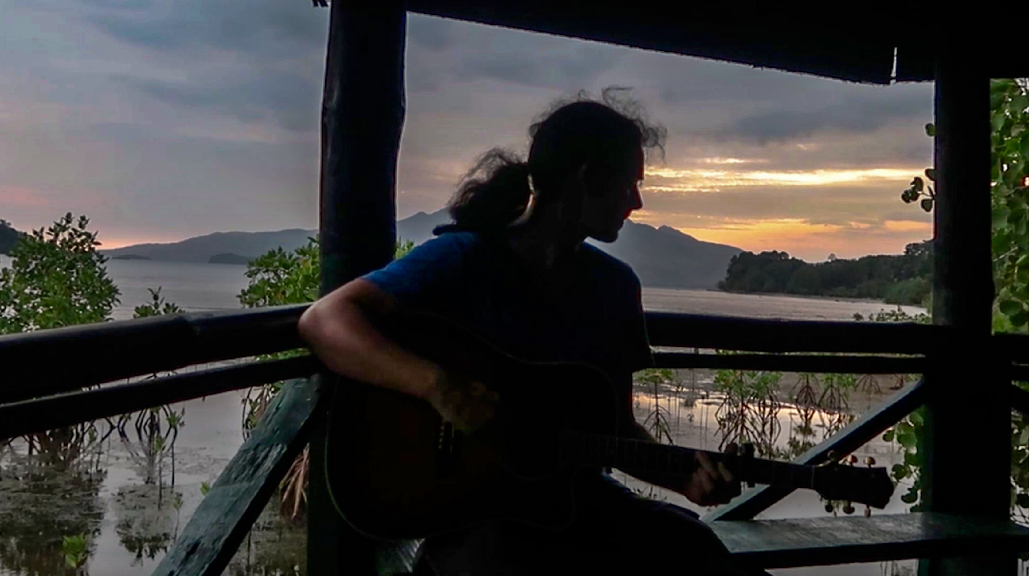 lenny through paradise play guitar in subic zambales philippines